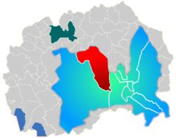 Municipality of Gjorce Petrov map