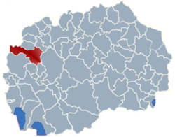 Municipality of Gostivar map