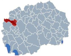 Municipality of Gostivar map