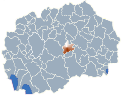 Municipality of Gradsko map