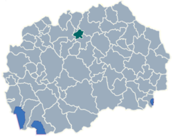 Municipality of Ilinden map
