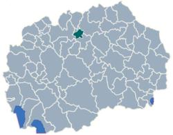 Municipality of Ilinden map