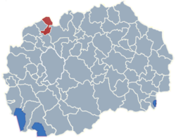 Municipality of Jegunovce map