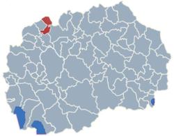 Municipality of Jegunovce map