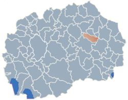 Municipality of Karbinci map
