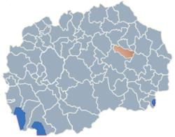 Municipality of Karbinci map