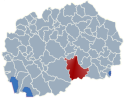 Municipality of Kavadarci map