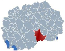 Municipality of Kavadarci map
