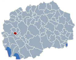 Municipality of Kicevo map
