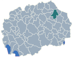 Municipality of Kocani map