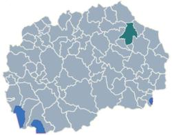 Municipality of Kocani map