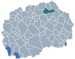 Municipality of Kratovo map