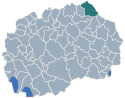 Municipality of Kriva Palanka map