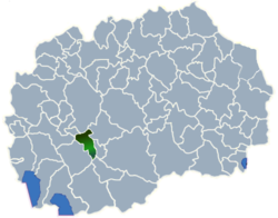 Municipality of Krusevo map