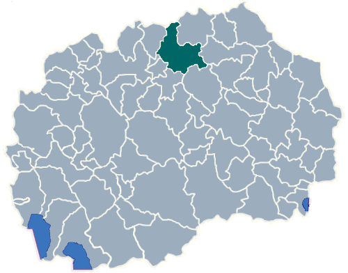 Municipality of Kumanovo map