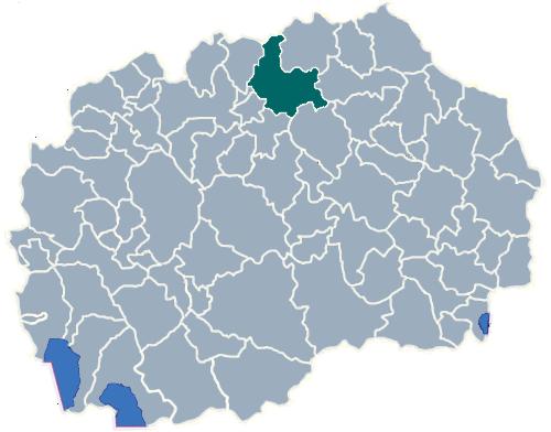 Municipality of Kumanovo map