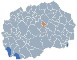 Municipality of Lozovo map