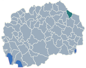 Municipality of Makedonska Kamenica map