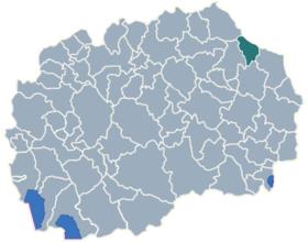 Municipality of Makedonska Kamenica map