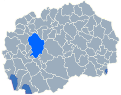 Municipality of Makedonski Brod map