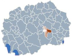 Municipality of Negotino map