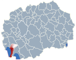 Municipality of Ohrid map