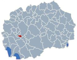 Municipality of Plasnica map