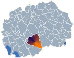 Municipality of Prilep map