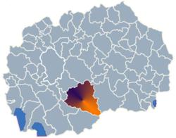 Municipality of Prilep map
