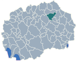 Municipality of Probistip map