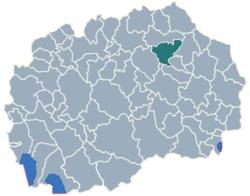 Municipality of Probistip map