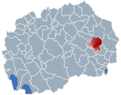 Municipality of Radovis map