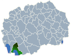 Municipality of Resen map
