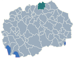 Municipality of Staro Nagoricane map