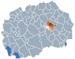 Municipality of Stip map