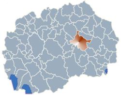Municipality of Stip map