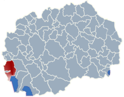 Municipality of Struga map
