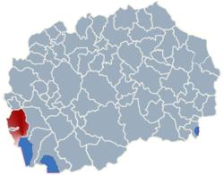 Municipality of Struga map