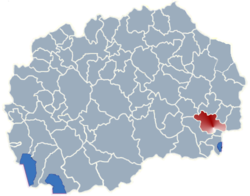Municipality of Strumica map