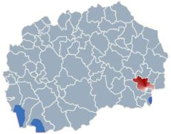 Municipality of Strumica map