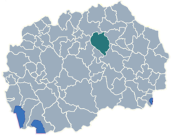 Municipality of Sveti Nikole map