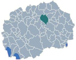 Municipality of Sveti Nikole map