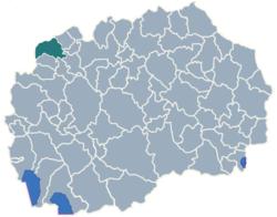 Municipality of Tetovo map