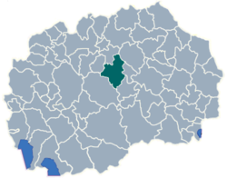Municipality of Veles map