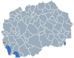 Municipality of Vevcani map