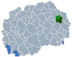 Municipality of Vinica map