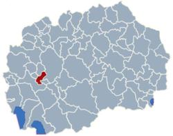 Municipality of Vranestica map