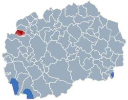 Municipality of Vrapciste map