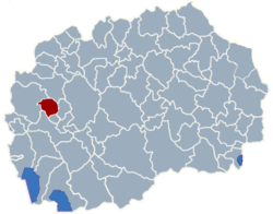 Municipality of Zajas map