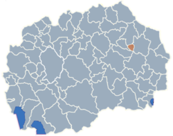 Municipality of Zrnovci map